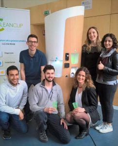 lancement fontaine à eau CleanCup biennale design
